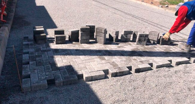 O sistema de blocos de concreto poroso que foi implementado pela prefeitura de Vila Velha (ES) na Barra do Jucu (Foto: Luciano D'Angelo Motta)